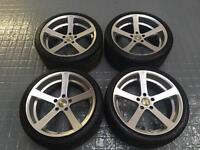"""19"""" Cade cades staggered alloy wheels & tyres 5x120 with tyres fit BMW"""