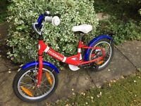 Young child (aged 4-5) bike. Ideal as first bike.