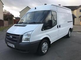 SOLD!! Only 95K Miles 07(57) Ford Transit T260M MWB, S/H Roof, 2.2TDCI Brand New Ply-Lining