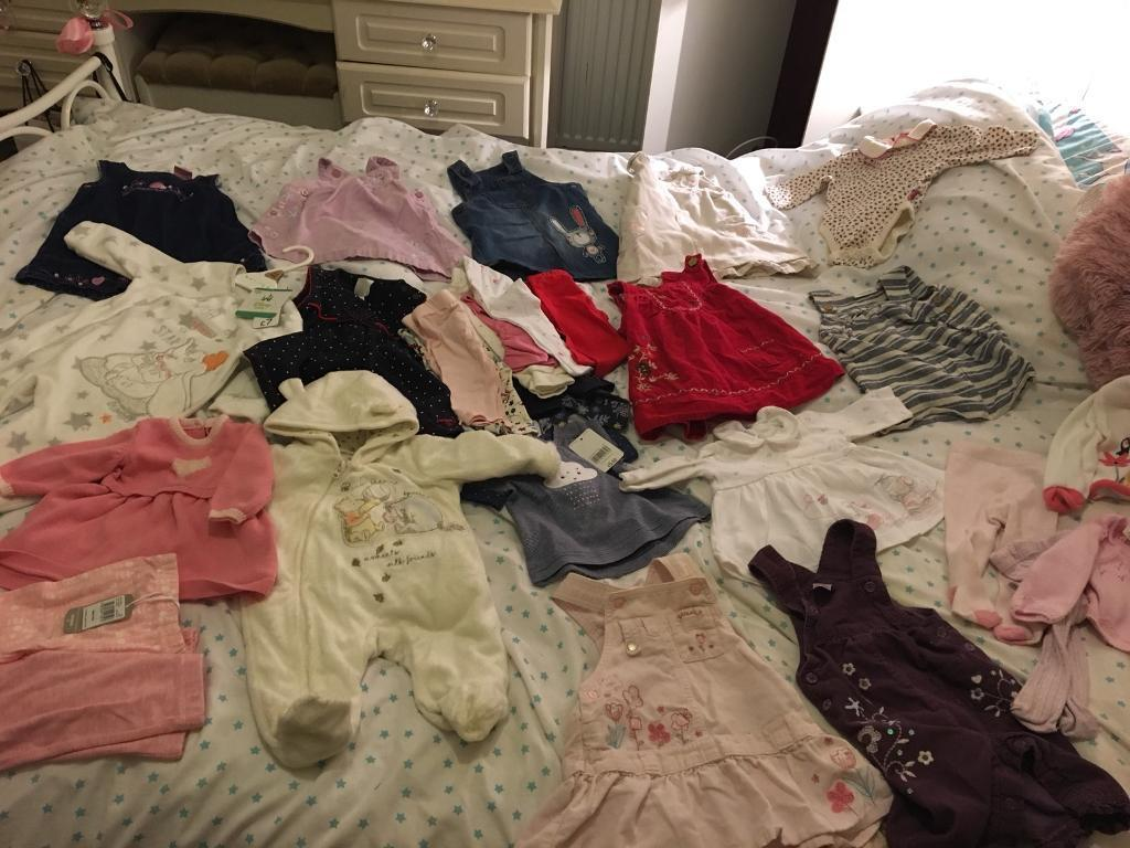 Baby girls clothes most new with tags first size up to 9 months READ DESCRIPTION