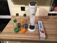 Soda stream with bottles and new cylinder