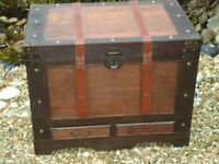 Large Wooden Storage Trunk / Chest