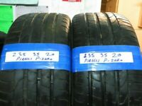 MATCHING PAIR 235 35 20 PIRELLI P-ZERO TYRES 6MM TREAD £100 PAIR FITTD N BAL #OPEN 7 DAYS#