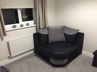 Fabric Corner Sofa Chair - Excellent Condition