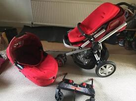 Quinny 3 carry cot and buggy system