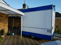 Electric refurbished catering trailer