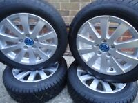 16 x 4 Alloyls and WINTER Tyres VW T- 4 VW Caddy AUDI A3 A4 A5 SHARAN GOLF PCD 5x112