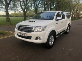 2014 TOYOTA HILUX INVINCIBLE ***AUTOMATIC ***ONE OWNER*** WHITE (IDEAL FOR EXPORT) NO VAT FOR EXPORT