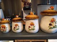 Vintage storage jars