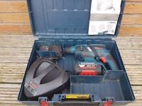 BOSCH GHB 36v BRUSHLESS li-ion SDS drill ,2x batteries, rapid charger. case