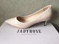 New Nude reptile leather 5 cm heels size 39 (UK 6) JADYROSE ORIGINAL MASSTIGE BRAND