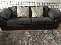 3 seater sofa and cuddle couch