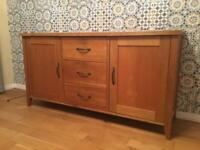 Solid oak sideboard in as new condition