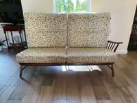 Ercol high back sofa and two chairs