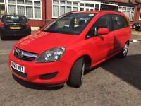 Vauxhall Zafira 2013 (63) 1.6 petrol uber Pco ready, 1 owner Low miles 26500, New 1 year Pco