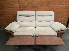 DFS 2 SEATER RECLINER SOFA