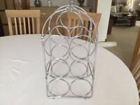 Lovely Chrome Wine Rack in Very Good Condition - Only 50p!