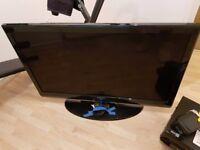 "42"" Samsung TV and Panasonic surround sound system"