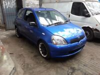 TOYOTA YARIS 3DR BLUE 1.0 PETROL BREAKING 2002 FOR SPARES 1X WHEEL NUT