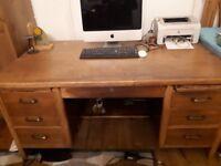 oak wood desk