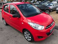 2012/12 HYUNDAI I10 1.2 CLASSIC,5 DOOR RED,1 OWNER FROM NEW,£20 ROAD TAX,GREAT ECONOMY,DRIVES WELL