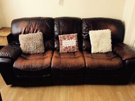 LEATHER RECLINER SOFAS & MATCHING ARM CHAIRS
