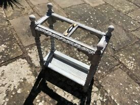 UMBRELLA AND STICK STAND. ANTIQUE FRENCH SHABBY CHIC.