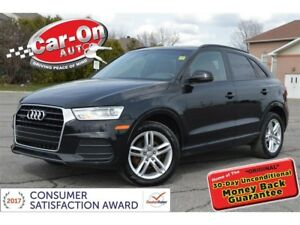 2017 Audi Q3 2.0T AWD LEATHER PANO ROOF HTD SEATS LOADED