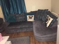 Corner sofa and swivel chair swap