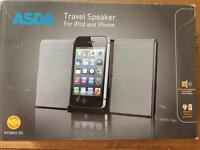 Travel speakers brand new. Travel speaker for Iphone 4S and Ipod
