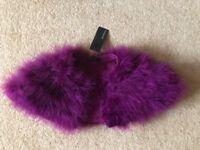 M&S Autograph Girls Purple Feathery Shawl 10 - 11 Years BNWT RRP £20