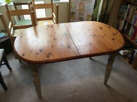 6 person farmhouse extendable table