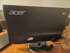 New acer monitor is available for sale with adaptor and HDMI cable