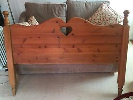 Antique Pine Freestanding Headboard
