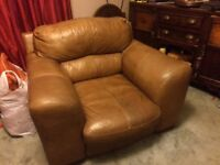 Lovely comfortable leather armchair