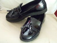 Black Loafer style ladies shoes for sale nearly new