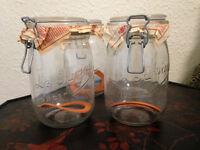 La Parfait Glass Storage Jars (4) NEW