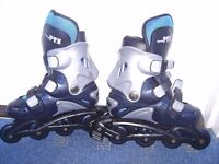 Brand New, Never used Runner PTX In-line Roller Blades and Protection Pads