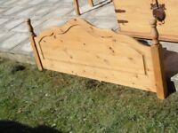 Pine double headboard