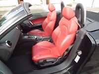 AUDI TT -2008 - CONVERTIBLE - TFSI SEMI AUTO- BLACK /RED LEATHER