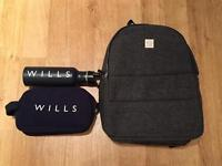 Brand new men's Jack Wills backpack. And brand new Jack Wills men's washbag and flask