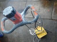 Belle Promix 1600E Plaster Mixer 110v Hand Held Electric cement Mixer