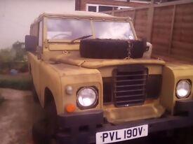 Series3 109 Landrover ex military 24 volt.