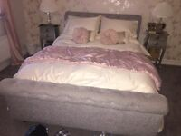 Kingsize Chesterfield style sleigh bed