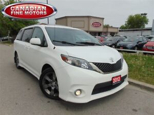 2012 Toyota Sienna SE-LEATHER-SUNROOF-CLEAN CARPROOF
