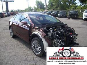 2015 Ford Fusion TITANIUM AWD 4X4 4 CYL ECOBOOST MAG KEYLESS CAM