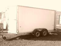 Ifor Williams BV 125 box trailer. 2012 model. Size 12'x6'x5'