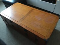Rustic looking coffee table!