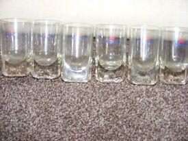 6 Rare Vintage Cinzano Glasses.