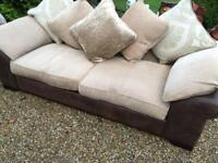 COMFY DFS 3 SEATER SOFA, FREE DELIVERY